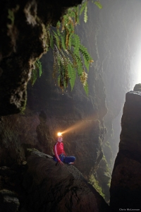 Waitomo Caves. New Zealand. 100 metre abseil (rappel) into